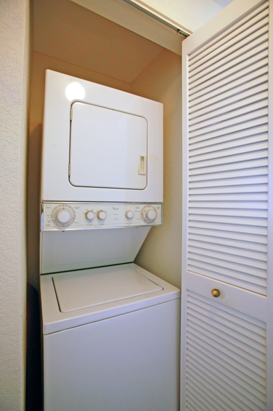 washer and dryer closet